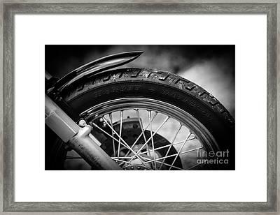 Harley Davidson Tire Framed Print by Carsten Reisinger