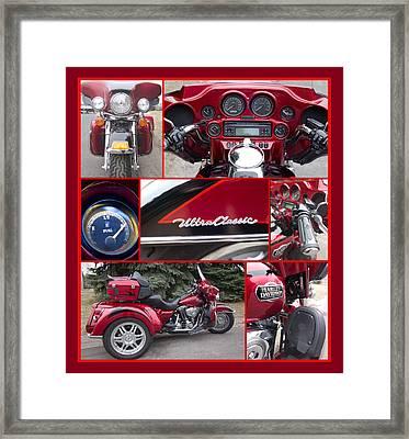 Harley Davidson Ultra Classic Trike Framed Print
