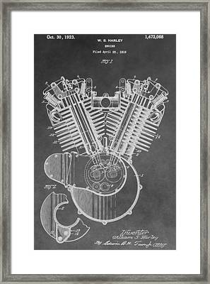 Harley Engine Patent Framed Print