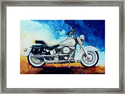 Harley Hog II Framed Print by Hanne Lore Koehler