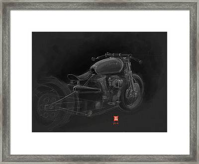Framed Print featuring the drawing Harley by Jeremy Lacy