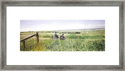 Harley Landscape Framed Print by Mavis Reid Nugent