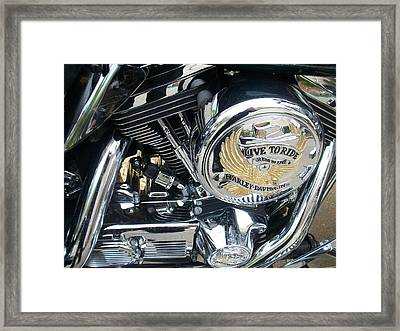 Harley Live To Ride Framed Print