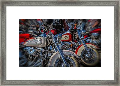 Framed Print featuring the photograph Harley Pair by Eleanor Abramson