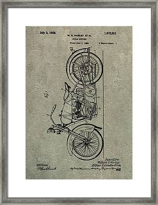Harley Patent Framed Print by Dan Sproul