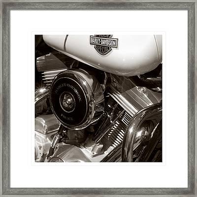 Harley Police Special Framed Print by Jeff Leland