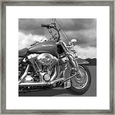 Harley Road King Custom Framed Print by Gill Billington
