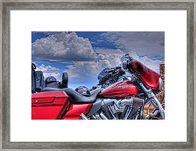 Harley Framed Print by Ron White