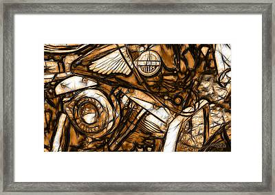 Harley Shovelhead Framed Print