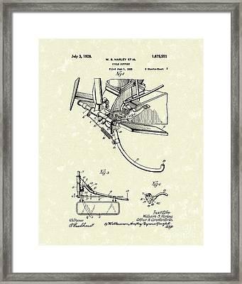 Harley Support 1928 Patent Art Framed Print