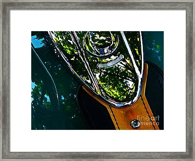 Harley Tank In Oils Framed Print by Chris Berry
