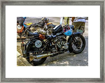 Harleys And Indians Framed Print