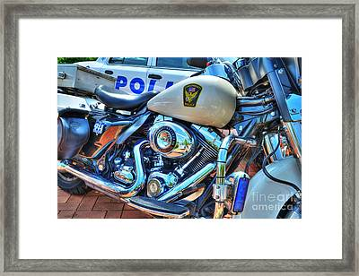 Harleys In Cincinnati 2 Framed Print