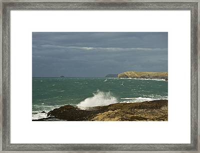 Harlyn Bay In North Cornwall Framed Print