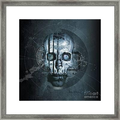 Harmagedon Blue-gray Framed Print by Franziskus Pfleghart
