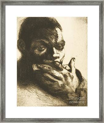 Harmonica Blues Framed Print by Pg Reproductions