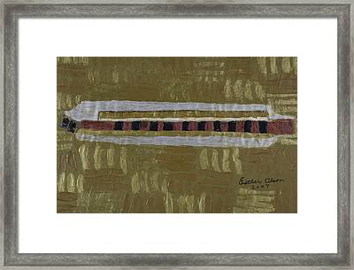Harmonica Framed Print by Esther Olson