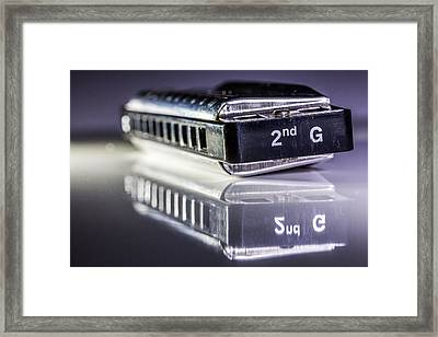 Harmonica Framed Print by Gary Gillette