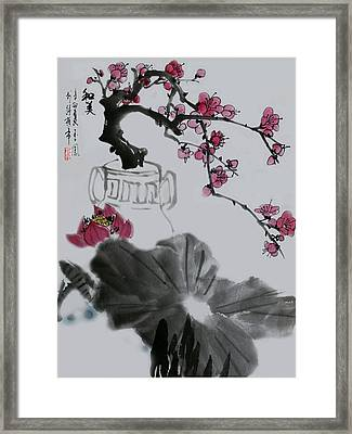 Framed Print featuring the photograph Harmony And Beauty by Yufeng Wang