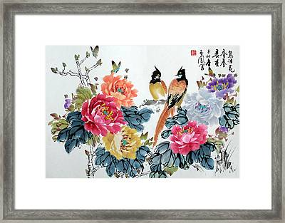 Harmony And Lasting Spring Framed Print