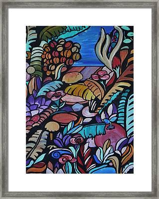 Harmony Garden Framed Print by Barbara St Jean
