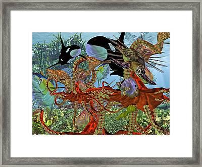 Harmony Under The Sea Framed Print by Betsy Knapp