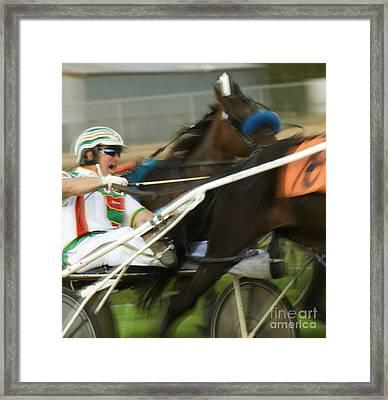 Harness Racing 3 Framed Print by Bob Christopher