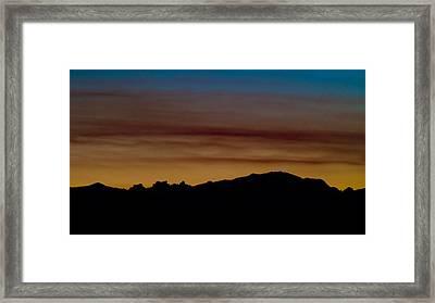 Harney Sunset Framed Print