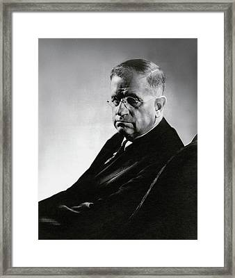 Harold L. Ickes Wearing Glasses Framed Print by Lusha Nelson