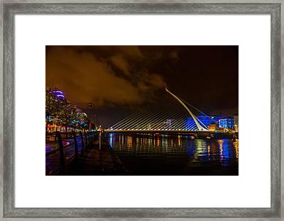 Harp Bridge Dublin Framed Print