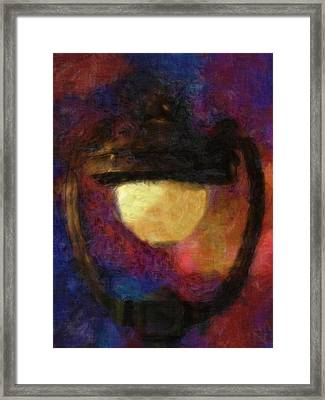 Harp Lamp Framed Print