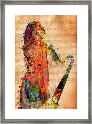 Harp Framed Print by Mark Ashkenazi