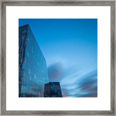 Harpa Concert And Convention Center Framed Print by Panoramic Images
