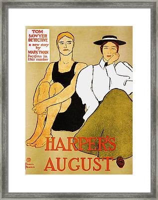 Harpers August Framed Print by Edward Penfield