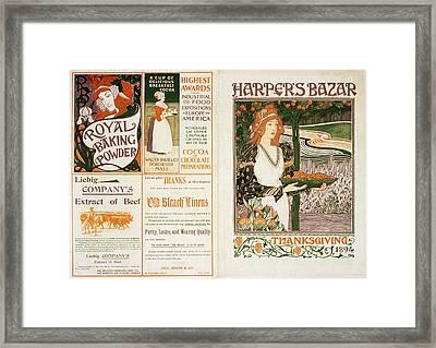 Harper's Bazar Thanksgiving Framed Print
