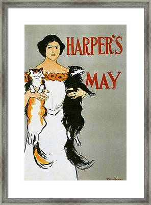 Harpers May Framed Print by Edward Penfield