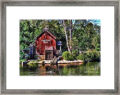 Harper's Mill - Digital Painting  Framed Print