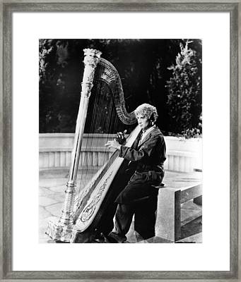 Harpo Marx Framed Print by Silver Screen