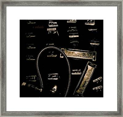 Harps In Brown Framed Print by Chris Berry
