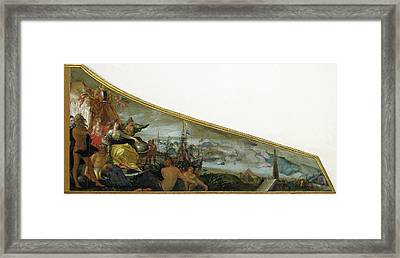 Harpsichord Lid Showing An Allegory Of Amsterdam Framed Print by Litz Collection