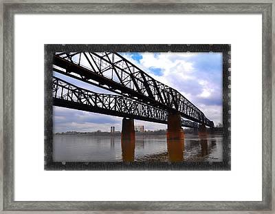 Harrahan Railroad Bridges Framed Print by Reese Lewis