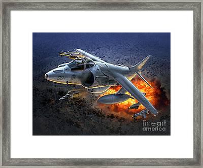 Harrier By Night Framed Print by Stu Shepherd