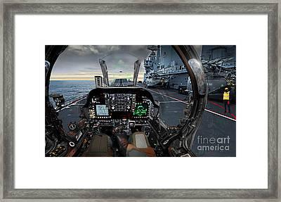 Harrier Cockpit Framed Print