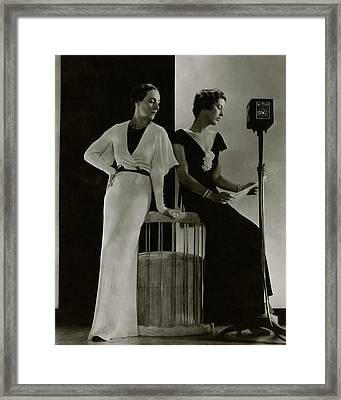 Harriet Hamil And Eleanor Barry Framed Print by Edward Steichen