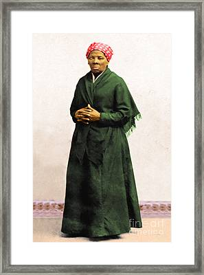 Harriet Tubman 20140210v1 Framed Print by Wingsdomain Art and Photography