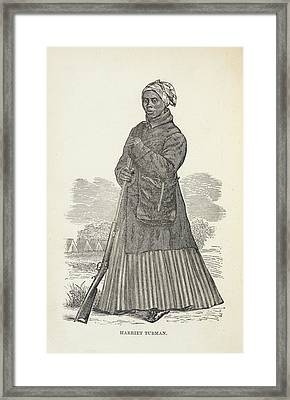 Harriet Tubman Framed Print by British Library