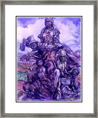 Harriet Tubman-underground Railroad-black Moses Framed Print by Keith OBrien Simms