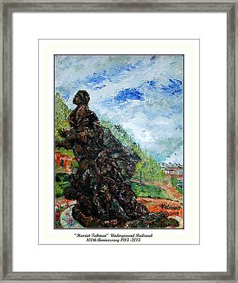 Harriet Tubman-underground Railroad Framed Print by Keith OBrien Simms