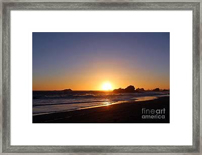 Harris Beach Framed Print by Irina Hays