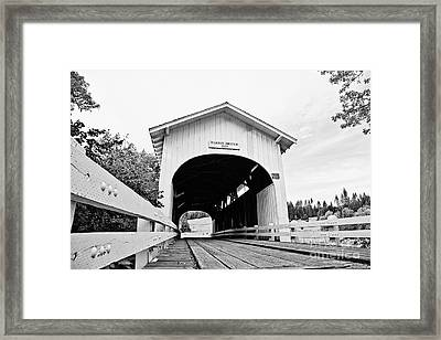 Harris Covered Bridge Framed Print by Scott Pellegrin